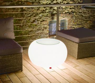 Moree Bubble, beleuchteter Tisch, mit Sicherheitsglasplatte, Ø 68 cm, H 41 cm...