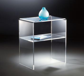 Hochwertiger Acryl-Glas Beistelltisch / Endtisch, klar, 50 x 38 cm, H 60 cm, ...