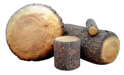 MeroWings Forest Stump Sitzkissen, Pouf, Ø 60 cm, Höhe 35 cm, mit originalget... - Vorschau 3