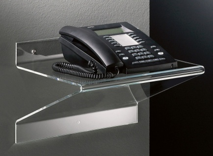 Hochwertiges Acryl-Glas Telefonbord, klar, 37 x 25 cm, H 25 cm, Acryl-Glas-St...