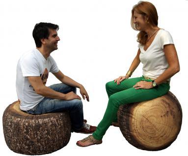 MeroWings Forest Stump Sitzkissen, Pouf, Ø 60 cm, Höhe 35 cm, mit originalget... - Vorschau 2