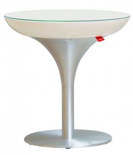 Moree Lounge Beistelltisch, S, LED beleuchtet, Ø 50 cm, H 50 cm, mit Glasplat...