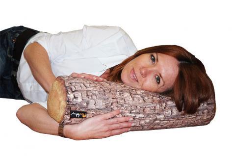 MeroWings Forest Log Arm-, Bein-, Nacken- und Rückenstütz-Kissen, Ø 16 cm, Lä...