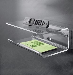 Hochwertiges Acryl-Glas Telefonbord / Wandboard, klar, 35 x 28 cm, H 15 cm, A...