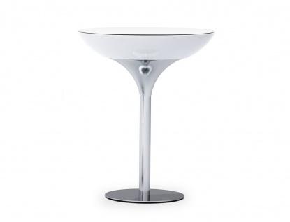 Moree Lounge Stehtisch, Pro, LED beleuchtet, Ø 84 cm, H 105 cm, ABS glänzend,...