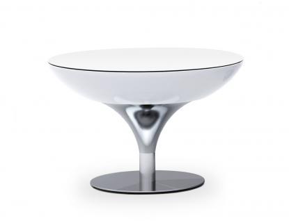 Moree Lounge Tisch / Beistelltisch, inkl. Glasplatte, beleuchtet, Ø 84 cm, H ...