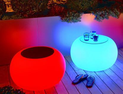 Moree Bubble, LED beleuchteter Tisch, mit Sicherheitsglasplatte, Ø 68 cm, H 4...
