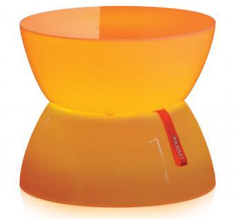 Moree Lounge Beistelltisch, Mini, LED beleuchtet, Ø 39 cm, H 33 cm, mit Glasp...