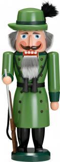 """Nussknacker """" Förster"""", aus Holz, grün, Höhe 37 cm"""