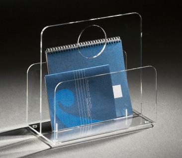 Hochwertige Acryl-Glas Zeitungstasche, Zeitungsständer, klar, 33 x 18 cm, H 3...