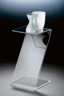 Hochwertiger Acryl-Glas Butlertisch, klar, 33 x 33 cm, H 60 cm, Acryl-Glas-St...