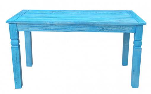 "Tisch, "" Washed Look"", Altholz, blau, B140 x T70 x H 76 cm"