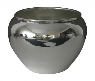 Übertopf, Jardiniè re, versilbert, rund, Höhe 16 cm, Ø 21 cm