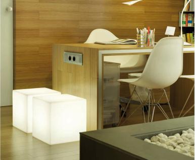 Leuchtwürfel / Sitzwürfel, Cuby Light, 2 Größen, weiß, (220-240 V) Energiespa... - Vorschau 2