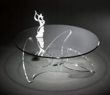 Hochwertiger Designer Couchtisch mit Glasplatte auf Acrylglasfuß ähnlich eine...