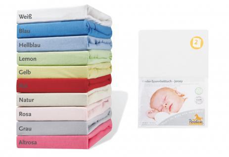 Pinolino Spannbetttücher für Kinderbetten 2 Stück, aus 100% Baumwolle, passen...