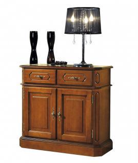 Hochwertige italienische Stilmöbel Kommode mit 2 Türen und 2 Schubladen, nuss...