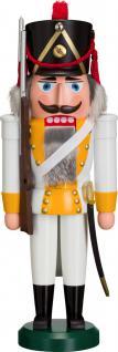 """Nussknacker """" Grenadier"""", aus Holz, weiß/orange, Höhe 39 cm"""