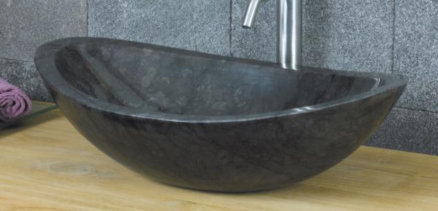 Aufsatzwaschbecken aus Marmor, B60 x T40 x H18 cm