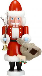 """Nussknacker """" Weihnachtsmann"""", aus Holz, rot, Höhe 38 cm"""
