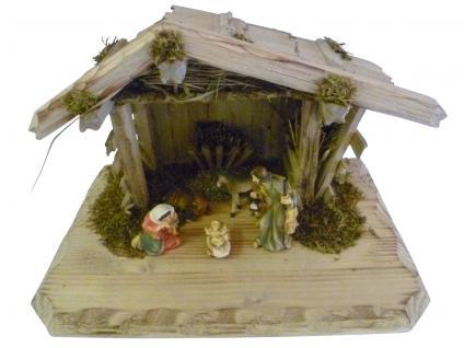 """Weihnachtskrippe / Stall """" Grainau"""", aus Holz handgefertigt in Deutschland, de..."""