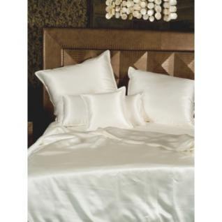 """Sichou Seiden-Bettwäsche """" Satin White Uni"""", eleganter Luxus-Seiden-Bettbezug ... - Vorschau 3"""