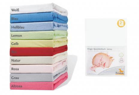 Pinolino Spannbetttücher für Wiegen, Anstellbettchen und Kinderwagen 2 Stück,...