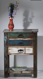"""Telefontisch / Beistelltisch, """" Vintage Look"""", Altholz, bunt, B60 x T32 x H79 cm"""