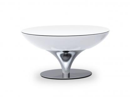 Moree Lounge Tisch / Beistelltisch, inkl. Glasplatte, Pro Akku, LED beleuchte...