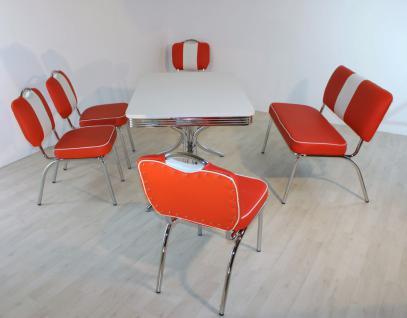 """Bankgruppe """" Los Angeles"""", American Diner Style; Vierfuß Bistrotisch, 4 Bistro..."""