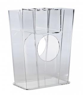 Hochwertiger Acryl-Glas Schirmständer, klar, 41 x 19 cm, H 50 cm, Acryl-Glas-...
