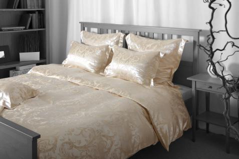 Seiden-Bettwäsche, beige, elegeanter Luxus-Seiden-Bettbezug, hochwertig genäh...