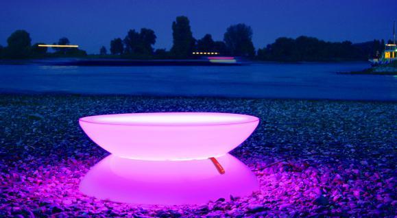 Moree Lounge Tisch / Beistelltisch, Pro, LED beleuchtet, Ø 84 cm, H 33 cm, mi... - Vorschau 2