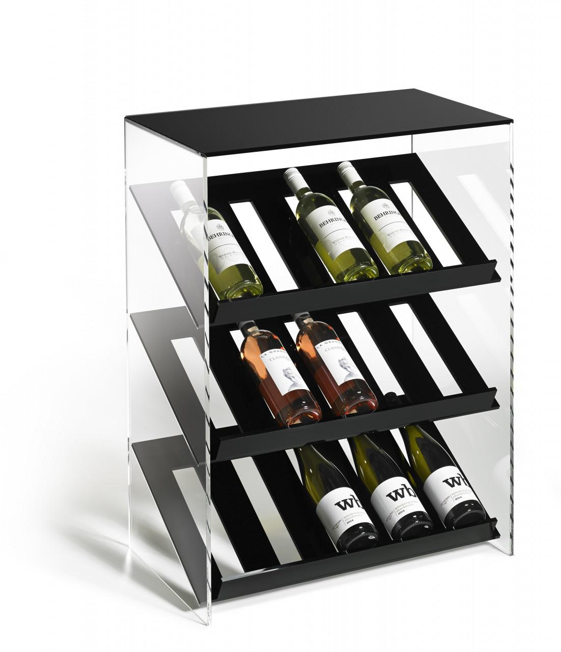 hochwertiges acryl glas designer weinregal flaschenregal weinschrank b 60 x kaufen bei. Black Bedroom Furniture Sets. Home Design Ideas