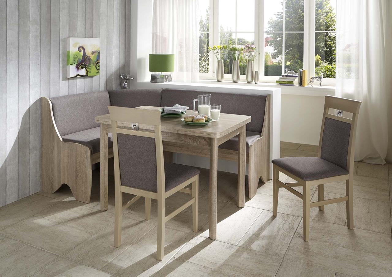 truhen eckbankgruppe eiche sonoma dekor eckbank 2 st hle und vierfu tisch kaufen bei. Black Bedroom Furniture Sets. Home Design Ideas