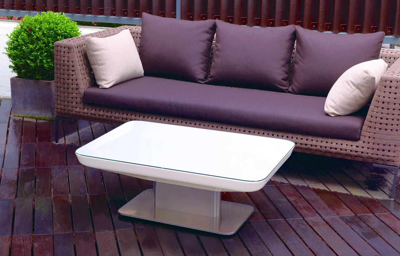 Moree lounge tisch studio pro led beleuchtet b 70 cm l for Lounge tisch design