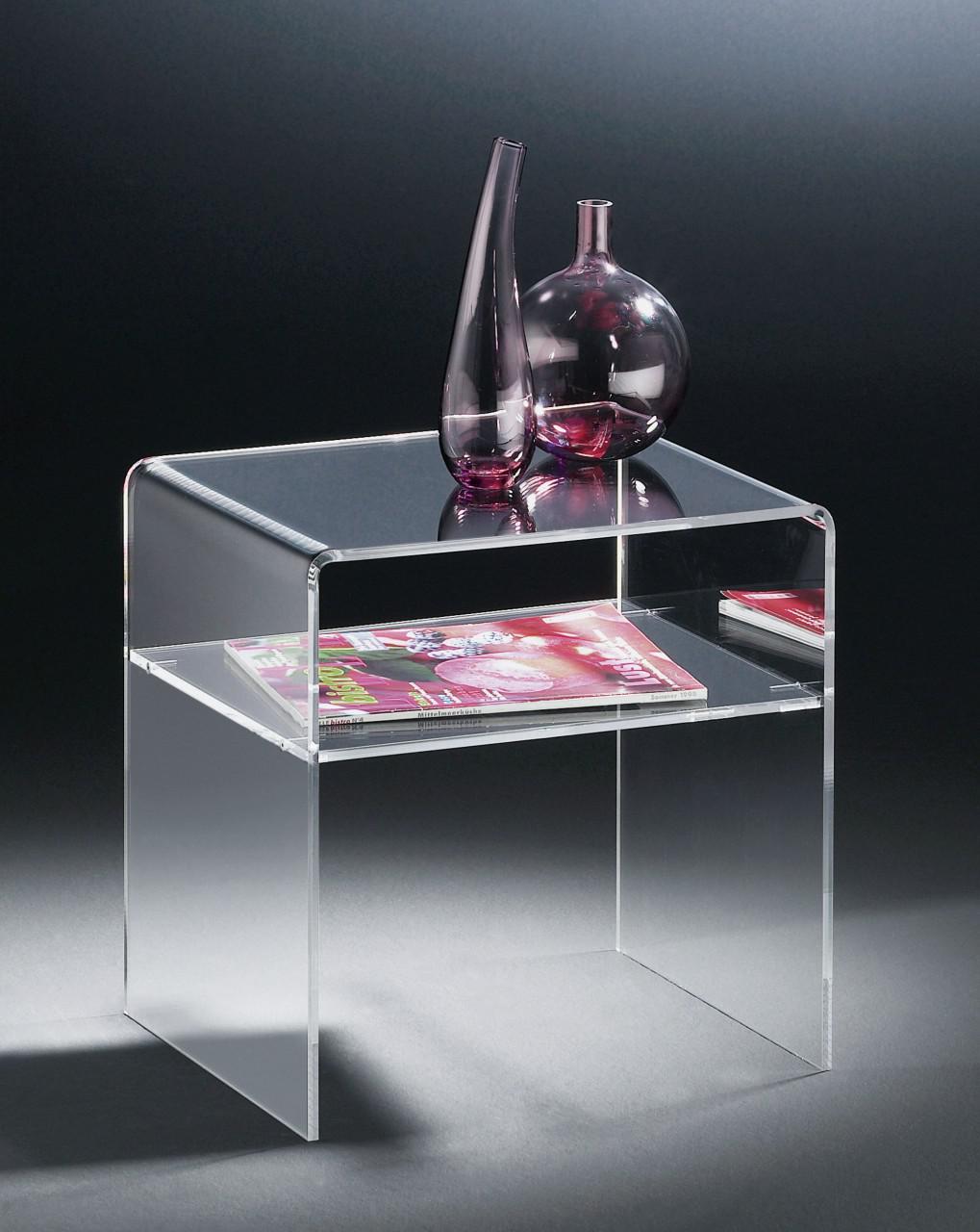 Attraktiv Glasbeistelltisch Foto Von Hochwertiger Acryl-glas Beistelltisch, Klar, 40 X 33