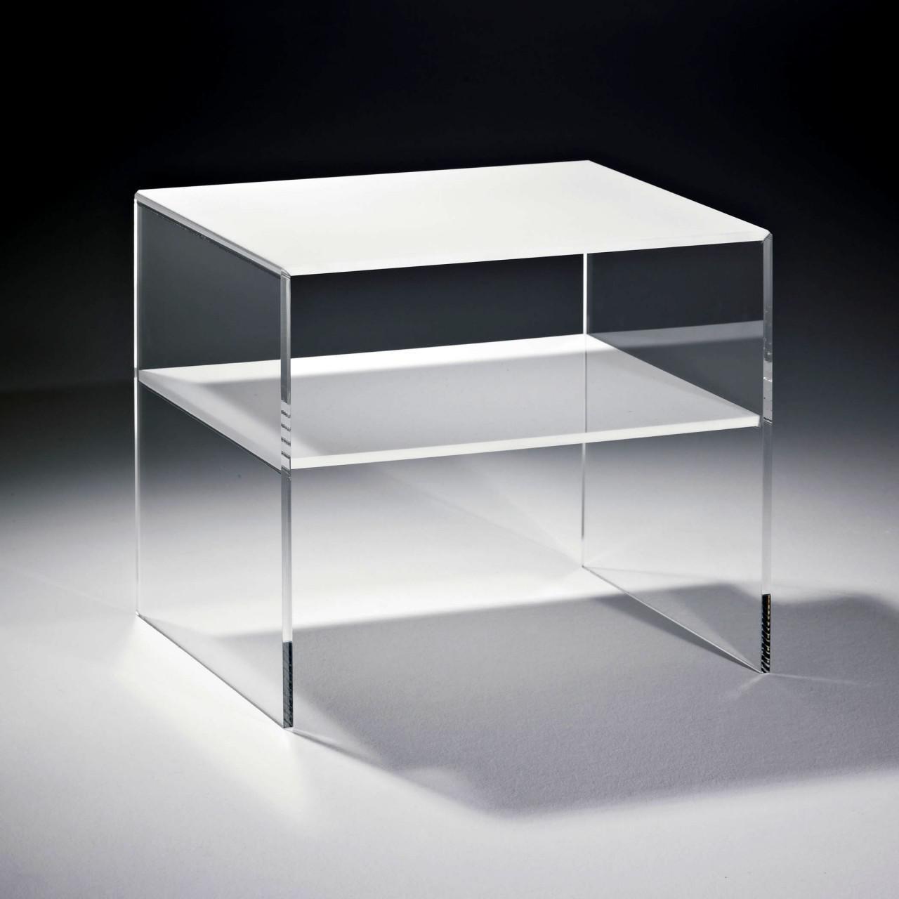 Gewaltig Glasbeistelltisch Das Beste Von Hochwertiger Acryl-glas Beistelltisch Mit 1 Fach, Tischplatte
