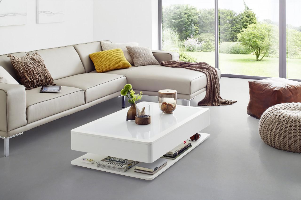 moree ora home couchtisch ohne beleuchtung mit stauraum holzkorpus wei se kaufen bei. Black Bedroom Furniture Sets. Home Design Ideas
