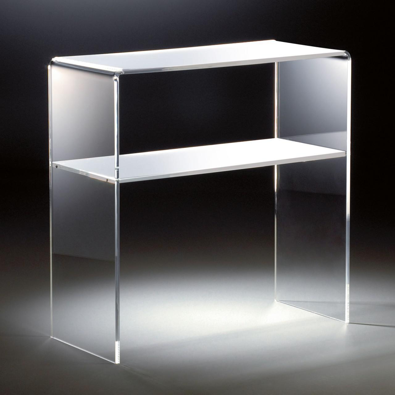 hochwertiges acryl glas standregal konsole mit 2 f chern 70 x 30 cm h 70 c kaufen bei. Black Bedroom Furniture Sets. Home Design Ideas