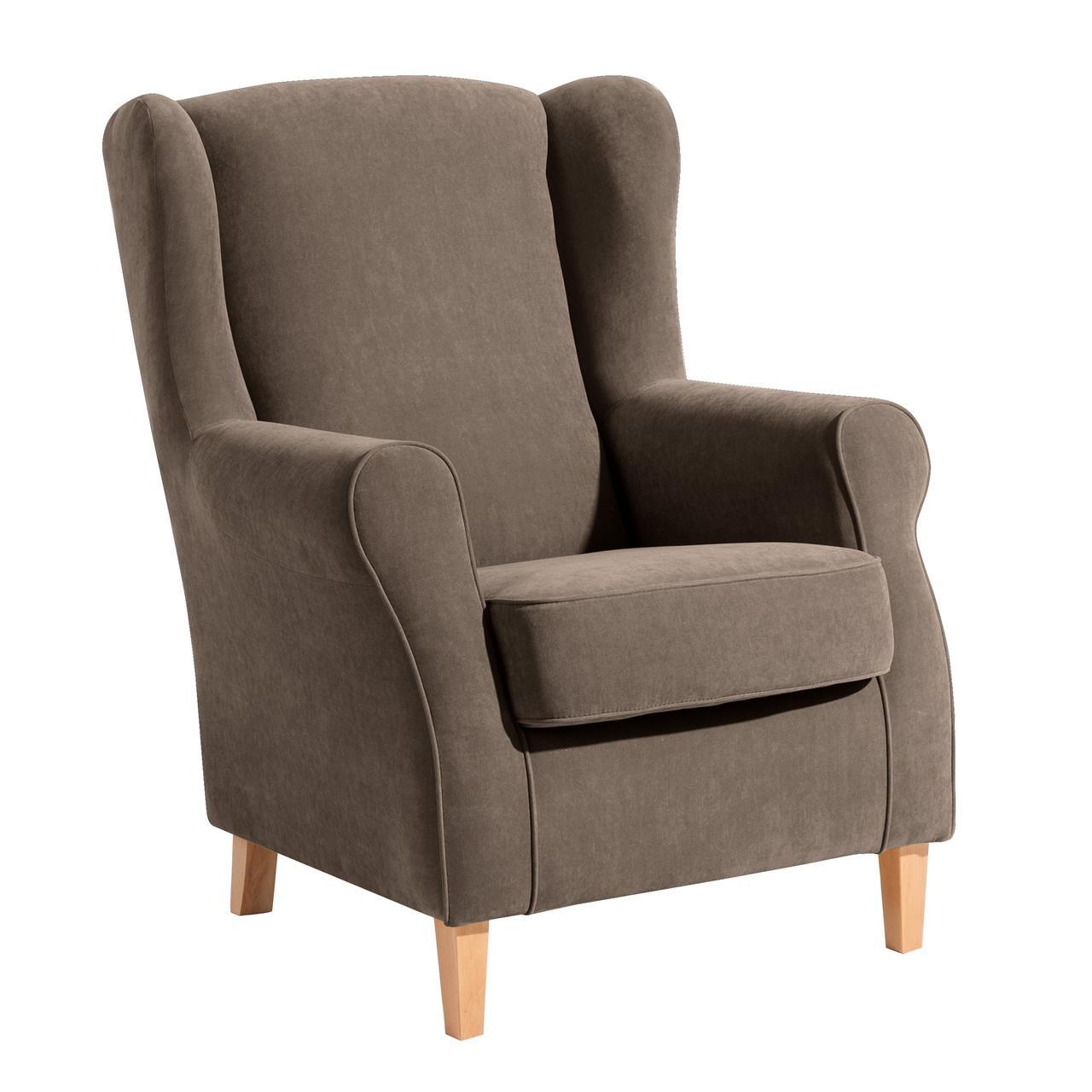 ohrenbackensessel einzelsessel mit dazu passendem hocker weiches flachgewe kaufen bei. Black Bedroom Furniture Sets. Home Design Ideas