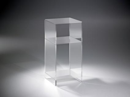 Hochwertiges Acryl-Glas Standregal, Konsole mit 2 Fächern, Regalböden und Sei...