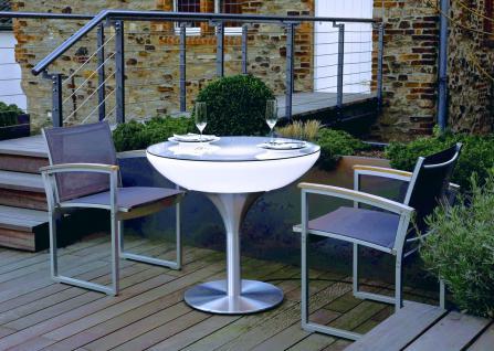 Moree Lounge Tisch beleuchtet, Ø 84 cm, H 75 cm, ABS glänzend, weiß transluze... - Vorschau 2