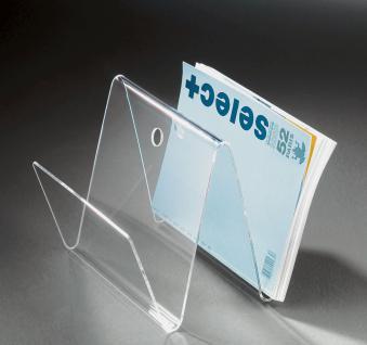 Hochwertige Acryl-Glas Zeitungstasche, Zeitungsständer, klar, 30 x 30 cm, H 2...