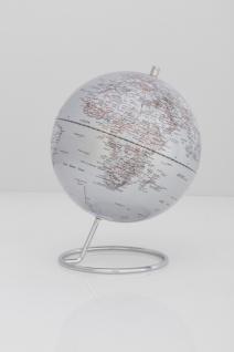 Moderner Globus / Weltkugel, aus Metall, verchromt und Kunststoff, Ø 24 cm x H...