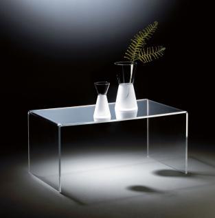 Hochwertiger Acryl-Glas Couchtisch, klar, 90 x 50 cm, H 42 cm, Acryl-Glas-Stä...