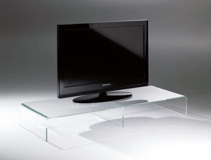 Hochwertiger Acryl-Glas TV-Tisch, TV-Rack, klar, 80 x 40 cm, H 15 cm, Acryl-G...