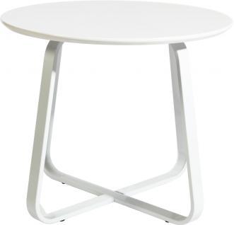 """Beistelltisch """" Pablo"""", Tischplatte aus MDF weiß, hochglanzlackiert, Füße aus ..."""