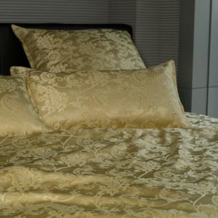 """Sichou Seiden-Bettwäsche """" Satin Jacquard Gold"""", Luxus pur, prunkvoller Bettbe..."""
