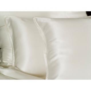 """Sichou Seiden-Bettwäsche """" Satin White Uni"""", eleganter Luxus-Seiden-Bettbezug ... - Vorschau 2"""